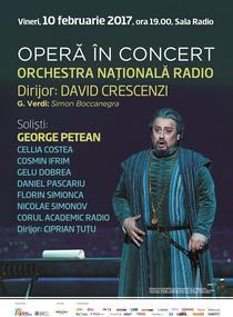 Opera in concert: George Petean la Sala Radio
