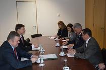 Imagine din timpul intalnirilor de la Ecofin