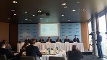 Imagine de la conferinta de presa a boardului Erste Group