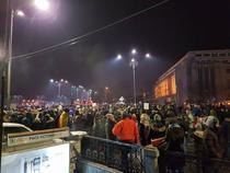 Protest la Piata Victoriei