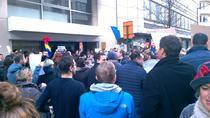 Protest romanesc la Bruxelles