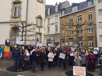 Protest ambasada din Luxemburg