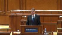 Presedintele Iohannis vorbeste in Parlament