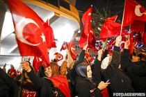 Protest in fata consulatului turc din Rotterdam (Olanda)
