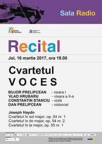 Cvartetul Voces in recital