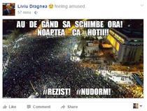Liviu Dragnea, pe Facebook