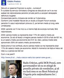 Postare Predoiu despre nationalizarea pensiilor private