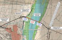 Harta - Podul suspendat peste Dunare de la Braila