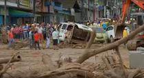 Alunecari de teren catastrofale in Columbia