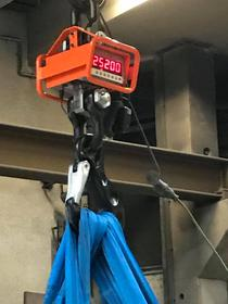Cantarul indica cele peste 25 de tone ale clopotului