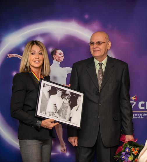 Nadia Comaneci in vizita la Farmec