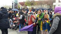 Circa 400 de florari au protestat marti la Universitate