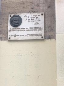 Cladire care celebreaza memoria lui Eminescu, spoita cu var