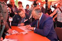 Dodon a semnat pentru un referendum de demitere a lui Chirtoaca