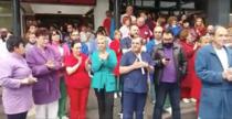 Protest la spitalul Satu Mare