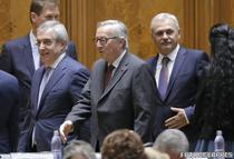 Jean-Claude Juncker, in Parlamentul Romaniei