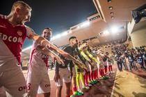 Jucatorii lui AS Monaco sarbatorind