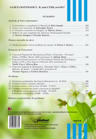 Gazeta Matematică B, Nr. 4/2017