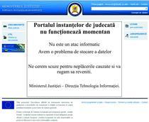 Portalul instantelor de judecata nu functioneaza