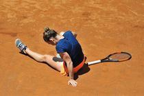 Simona Halep s-a accidentat la glezna in finala de la Roma