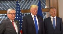Juncker, Trump si Tusk, la Bruxelles