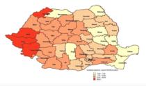 Distributia geografica a rujeolei 2016-2017