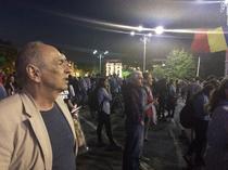 Gabriel Liiceanu la protest