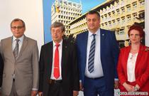 Vizita ambasadorului rus Valery Kuzmin (ctr. stg.) la Targoviste
