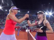 Bouchard si Sharapova, la finalul partidei