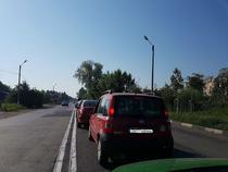 Cozi enorme inainte de podul Giurgiu-Ruse