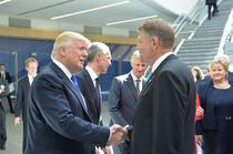 Donald Trump si Klaus Iohannis la vizita anterioara