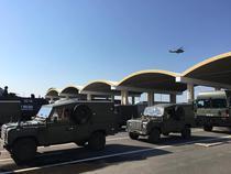 Convoi militar NATO in vama Giurgiu
