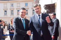Sorin Grindeanu si premierul Croatiei, Andrej Plenkovic