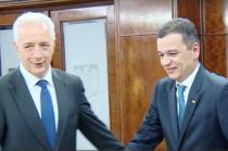 Stanislaw Tillich, premierul landului Saxonia, si Sorin Grindeanu