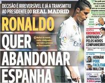 Cristiano Ronaldo, pe coperta A Bola