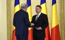 Mihai Tudose si Klaus Iohannis, la investitura in functie