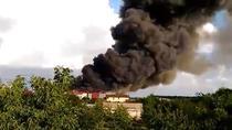 Incendiu la o fabrica din Balotesti