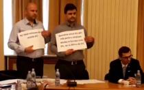 Deputati USR protestand fata de ministrul Sanatatii
