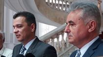 Sorin Grindeanu si Viorel Stefan, la briefingul de presa de marti