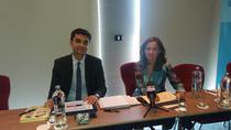 Imagine de la conferinta BCR de miercuri