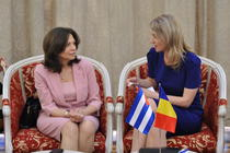 Embajadora de Cuba Nieves Iliana Hernández y Alina Gorghiu