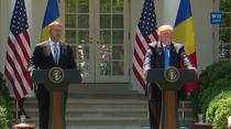 Klaus Iohannis si Donald Trump la Casa Alba