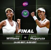 Venus Williams vs Garbine Muguruza in finala de la Wimbledon
