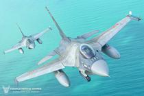 Avioanele F16 ale Fortelor Aeriene Romane deasupra Mării Negre