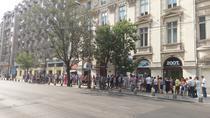 Coada la Directia de relatii cu Cetatenii Bucuresti pentru voucherele de biciclete