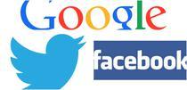 Logo Google, Facebook, Twitter