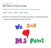 Microsoft nu renunta definitiv la Paint