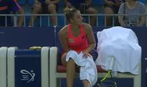 Kristina Pliskova si-a prins degetul intr-un ventilator