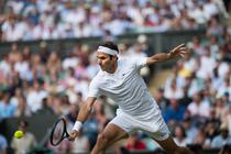 Roger Federer, pe arena centrala de la Wimbledon