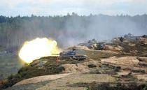 Tancuri rusesti la exercitiul militar Zapad